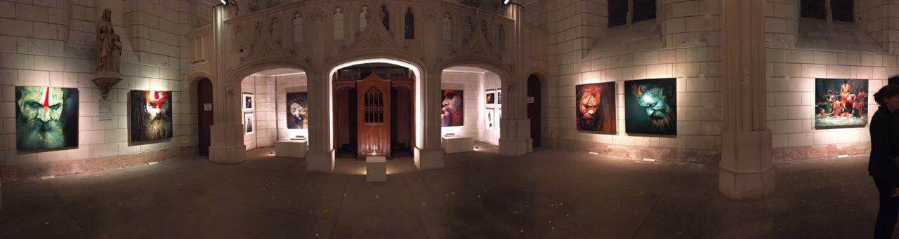 The Solo show panorama look of Viveek Sharma in Amboise - France.